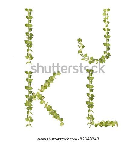 Heart tree Alphabet i-j set