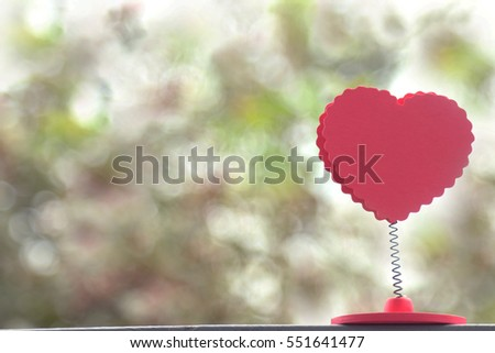 Heart with beautiful bokeh  to your sweetheart on Valentine's Day. #551641477