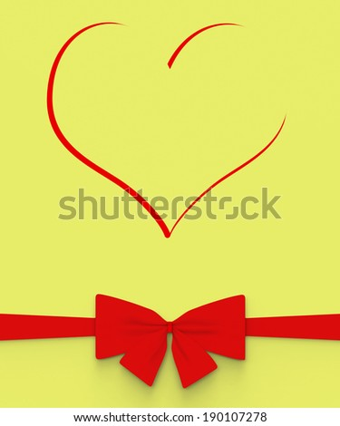 Heart With Bow Meaning Anniversary Present Or Marriage Gift