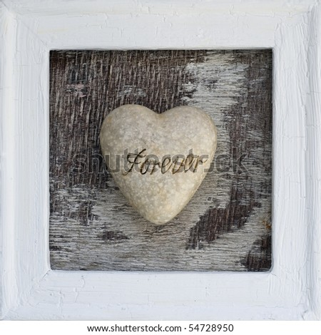 "heart with text ""forever"" in a frame"