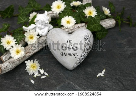 Heart with the inscription in Loving Memory Foto stock ©