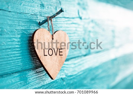 """Heart with the inscription """"Love"""" #701089966"""