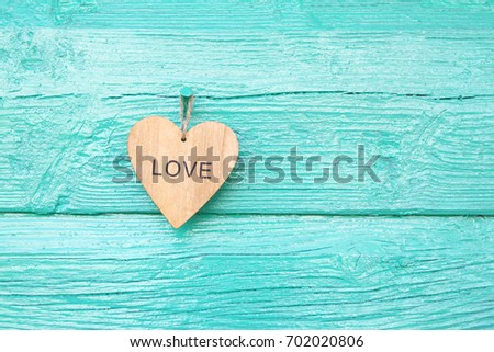 """Heart with the inscription """"Love"""" #702020806"""