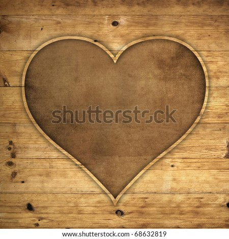 heart wooden frame with space for your  valentine wording concept