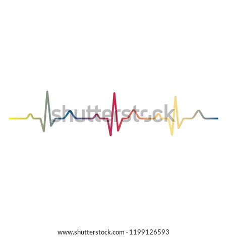 Heartbeat / heart beat pulse flat icon for medical apps and websites.