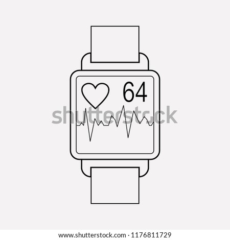Heartbeat tracker app icon line element.  illustration of heartbeat tracker app icon line isolated on clean background for your web mobile app logo design.