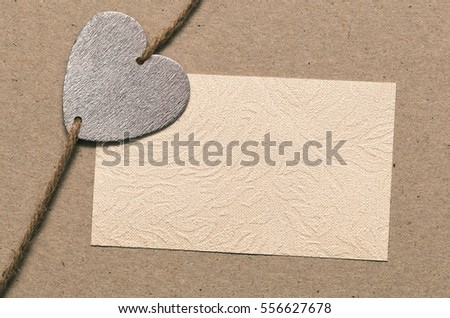 Heartfelt message. Love note. Valentine in Valentine's Day. Blank paper for your text go design, the symbolic heart.