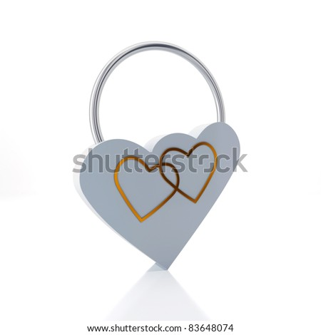 Hearts, connected by a lock