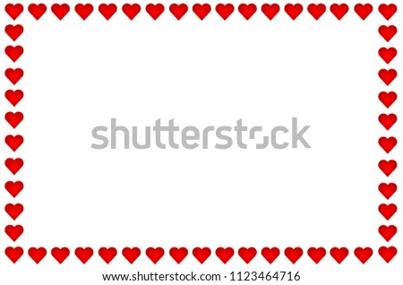 Hearts frame with white background #1123464716