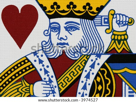 Hearts king portrait close-up