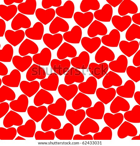 hearts red pattern, abstract texture; art illustration; for vector format please visit my gallery