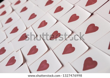 Hearts seamless background isolated on a white. #1327476998