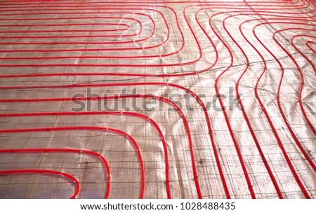 Heat floor instalation. Repair element design.
