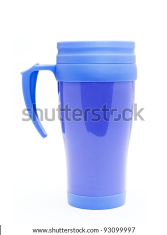 Heat protection- blue thermos for coffee mug