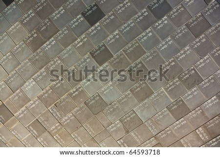 Heat resistant tiles on outside of nose of Space Shuttle, Florida