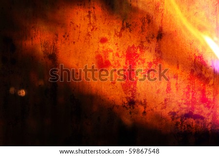 heated metal texture - stock photo
