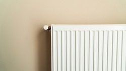 Heater Honeycomb, panel radiator and valve. Heating with natural gas.