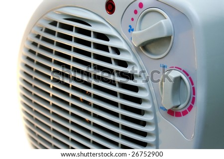 Heater isolated on white background.
