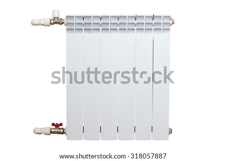 Heater isolated on white background #318057887