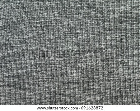 Heather gray polyester sportwear knitted fabric texture #691628872