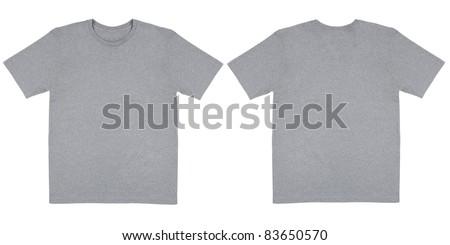 Heather Grey Knit T Shirt Off Body Flat - stock photo