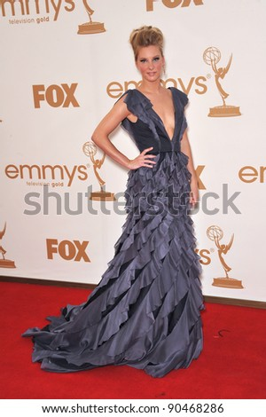 Heather Morris arriving at the 2011 Primetime Emmy Awards at the Nokia Theatre, L.A. Live in downtown Los Angeles. September 18, 2011  Los Angeles, CA Picture: Paul Smith / Featureflash