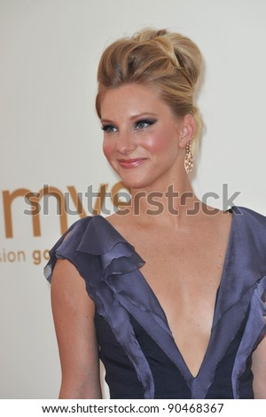 Heather Morris arriving at the 2011 Primetime Emmy Awards at the Nokia Theatre, L.A. Live in downtown Los Angeles. September 18, 2011  Los Angeles, CA Picture: Paul Smith / Featureflash - stock photo