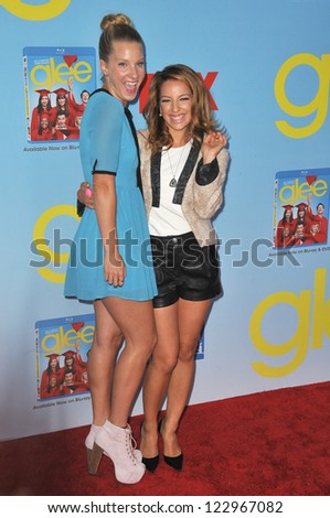 "Heather Morris & Vanessa Lengies (right) at the season four premiere of ""Glee"" at Paramount Studios, Hollywood. September 12, 2012  Los Angeles, CA Picture: Paul Smith"