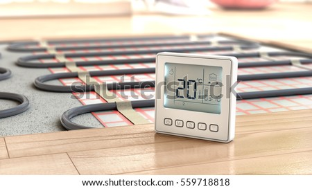 Shutterstock Heating concept. Underfloor heating. Layers of heating floor in the room. 3d illustration