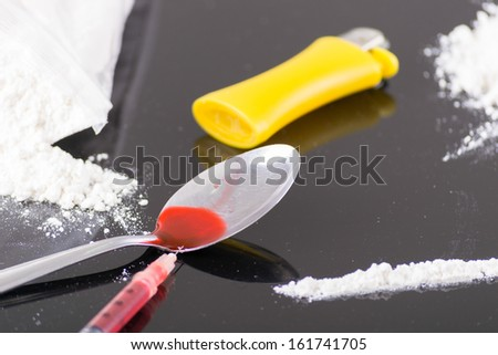 heating drugs in a spoon over a flame