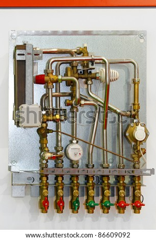 Heating pipes and meter for home