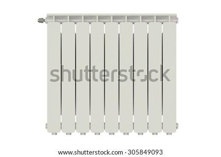 heating radiator isolated on white background #305849093