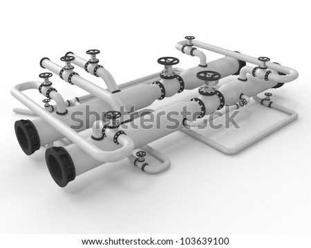 Heating system on a white background