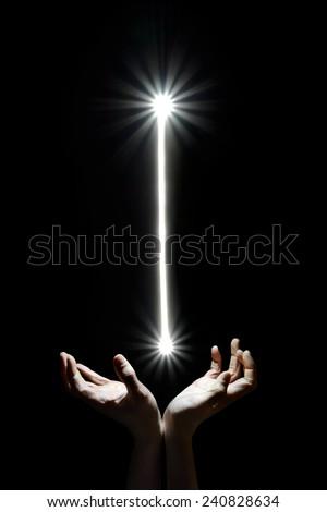 Stock Photo Heaven's beam of light