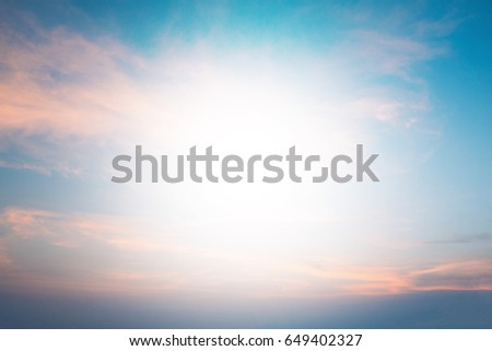 Heavenly Skies pastel background blurred nature. Open new perspectives. of seeing. Blurry nature summer. blurred backdrop. style abstract blurred sunlight. Outdoor Lighting. #649402327
