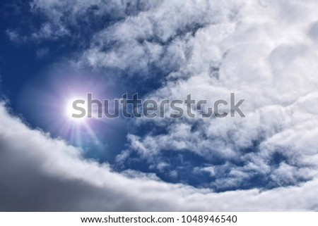 Heavenly Sunlight Through The Big Cloud Formation