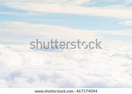 heavenly view high above the clouds #467574044