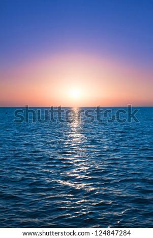 Heavens Gold Sunrise - stock photo