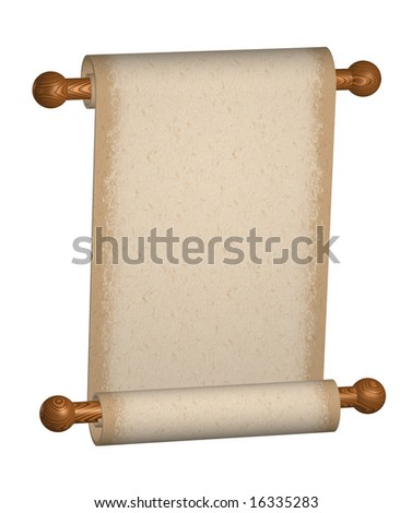 blank paper scroll. lank beige paper scroll