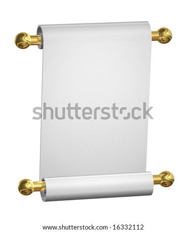 blank paper scroll. lank white paper scroll