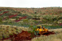 Heavy Bulldozer Earthworks in the Outback