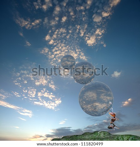 Heavy burden - stock photo