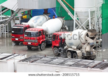 Heavy Concrete Truck on Construction Site