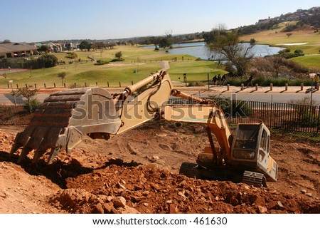 Heavy construction earth moving equipment