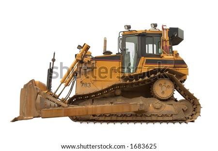Heavy duty bulldozer - Isolated 20 000 kg/45 000 lb  at work