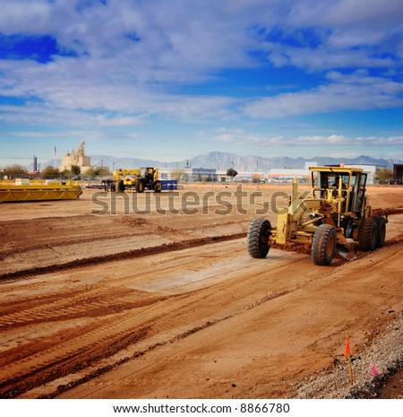 Heavy duty machinery in industrial zone.