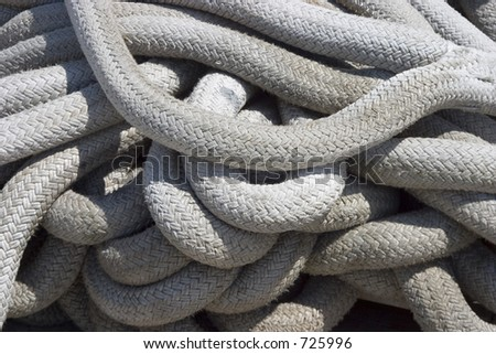 Heavy duty rope used for holding a ship to the dock stock for Heavy rope for nautical use