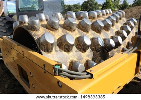 heavy earth moving construction machinery