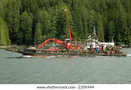 Heavy equipment barge