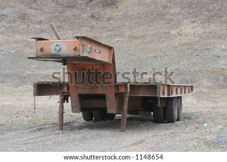Heavy Equipment Flatbed Trailer